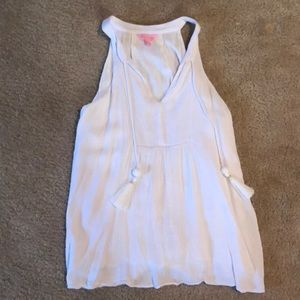 Lilly Pulitzer tank top with tassels